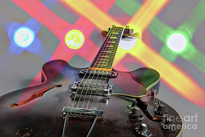 Photograph - Guitar Image By Gibson Canvas Print 1744.25 by M K Miller