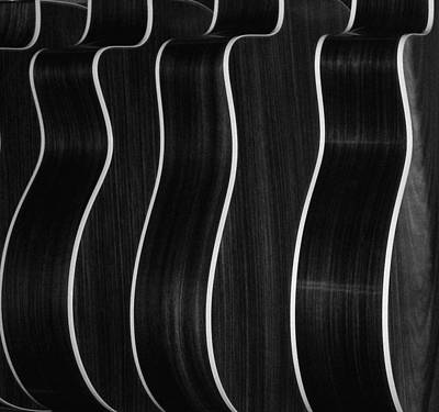 Photograph - Guitar Patterns Black & White by Bill Gracey