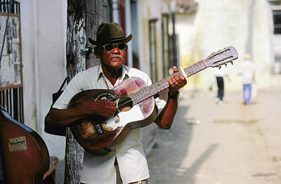 Photograph - Guitar-playing Troubador, Trinidad by Christopher P Baker