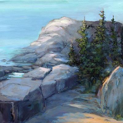 Painting - Gull Rock Morning Light by J R Baldini