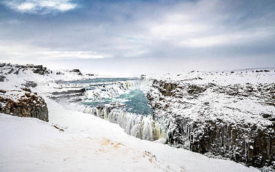 Photograph - Gullfoss On Ice by Framing Places