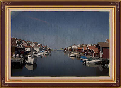Mixed Media - Gullholmen Coastal Village Sweden by Clive Littin
