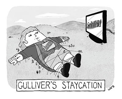 Drawing - Gulliver's Staycation by Lars Kenseth