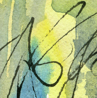 Music Paintings - Gumption - Abstract Watercolor Painting by Susan Porter