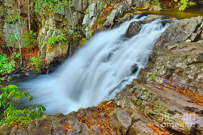 Photograph - Gushing Hawk Falls by Adam Jewell
