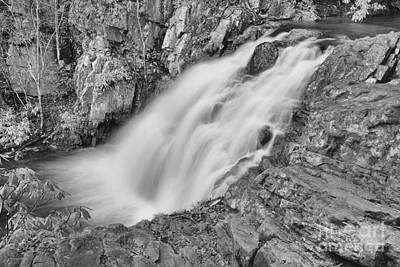 Photograph - Gushing Hawk Falls Black And White by Adam Jewell