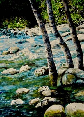 Painting - Gushing Waters by Sher Nasser