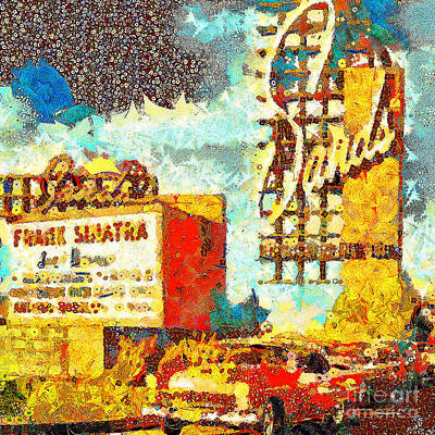 Photograph - Gustav Klimt Does The Sands Hotel And Casino In Las Vegas With Frank Sinatra 20190122 Sq1 by Wingsdomain Art and Photography