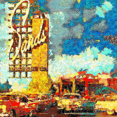 Photograph - Gustav Klimt Does The Sands Hotel And Casino In Las Vegas With Frank Sinatra 20190122 Sq2 by Wingsdomain Art and Photography