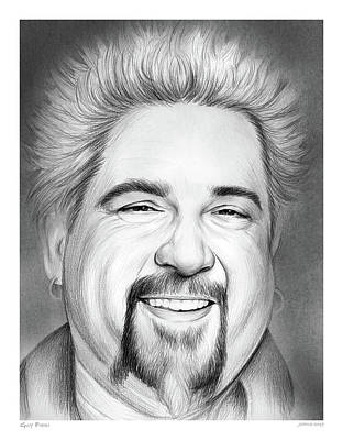 Food And Beverage Drawings - Guy Fieri by Greg Joens