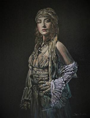Painting - Gypsy Portrait by John Neeve