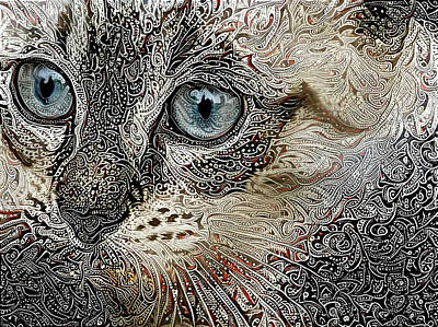 Gypsy The Siamese Kitten Art Print