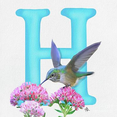 Painting - H Is For Hummingbird by Tammy Lee Bradley