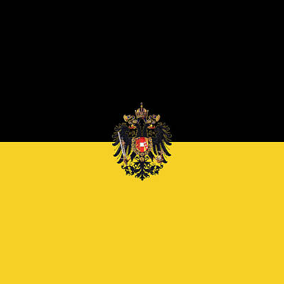 Digital Art - Habsburg Flag With Small Imperial Coat Of Arms by Helga Novelli