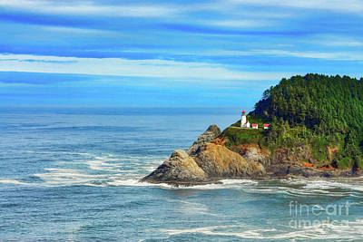 Photograph - Haceta Head Lighthouse by Mel Steinhauer