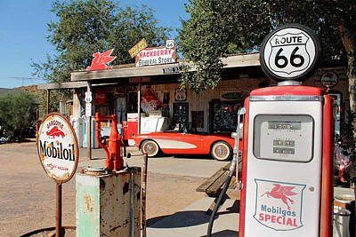Photograph - Hackberry General Store Gas Station by Doc Braham