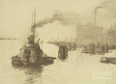 Drawing - Hafen, 1904 by Jean Paul Kayser