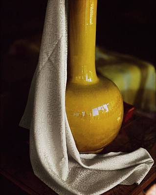 Photograph - Hafner Silk Shantung On A Vase by Horst P. Horst