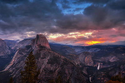 Royalty-Free and Rights-Managed Images - Half Dome at Sunset by Andrew Soundarajan