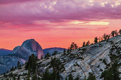 Photograph - Half Dome At Sunset by Stefan Mazzola