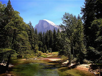 Half Dome From Ahwanee Bridge - Yosemite Art Print