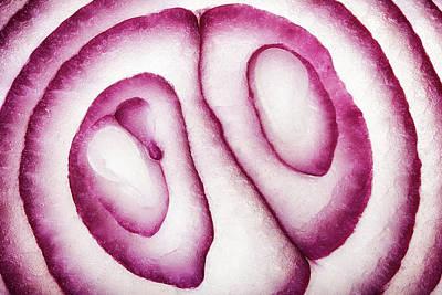 Photos - Half Red Onion Macro by Johan Swanepoel