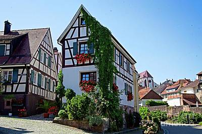 Photograph - Half Timbered Houses In Gernsbach, Germany by Elzbieta Fazel
