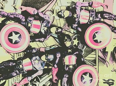 Dot Art Wall Art - Photograph - Halftone Superheroes by Jorgo Photography - Wall Art Gallery