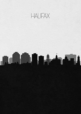 Digital Art - Halifax Cityscape Art by Inspirowl Design