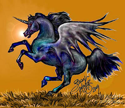 Digital Art - Halloween Fantasy Horse by Stacey Mayer