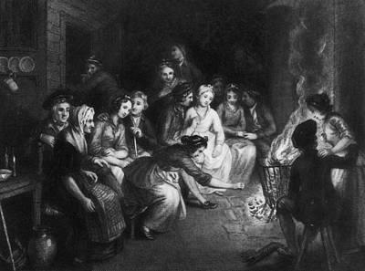 Halloween Gathering Art Print by Hulton Archive