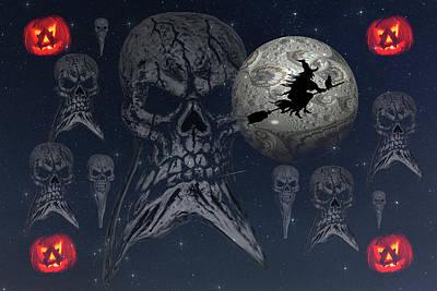 Western Art - Halloween Haunting by Steve Purnell