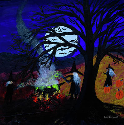 Painting - Halloween Night by Dick Bourgault