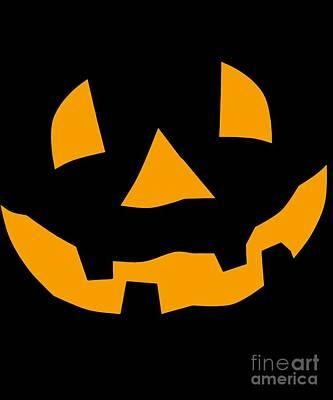 Digital Art - Halloween Pumpkin Tee Shirt by Flippin Sweet Gear