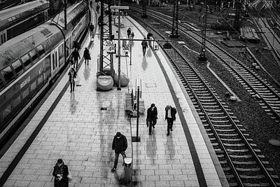Photograph - Hamburg railway station by Ute Herzog