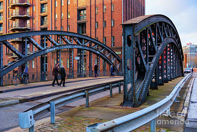 Photograph - Hamburg Speicherstadt Bridges by Marina Usmanskaya