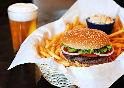 Photograph - Hamburger & Beer by Muratkoc