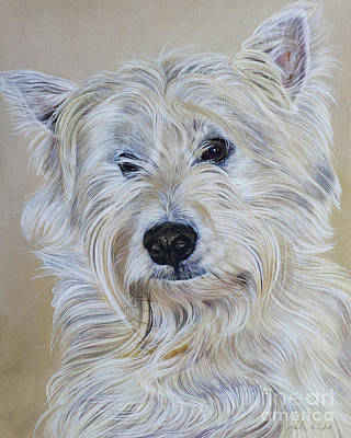 Scottish Terrier Wall Art - Painting - Hamish by Odile Kidd