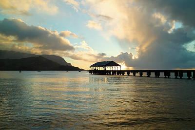 Photograph - Hanalei Bay Sunset In Hawaii by Jonathansloane