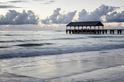 Photograph - Hanalei Pier At Dusk by Belinda Greb