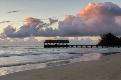 Photograph - Hanalei Pier At Sunset by Belinda Greb