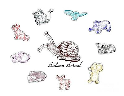 Pasta Al Dente - Hand Drawn of Autumn Animals with Paper Cut Art by Iam Nee