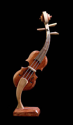 Photograph - Hand Made Souvenir Violin - Cuba by Rick Veldman
