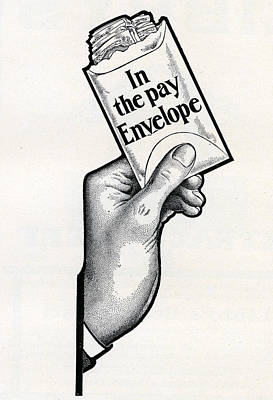 Hand Digital Art - Hand With Pay Envelope by Graphicaartis