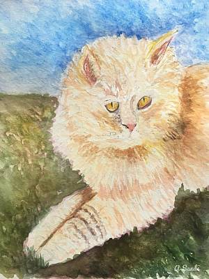 Painting - Handsome Kitty by Anne Sands