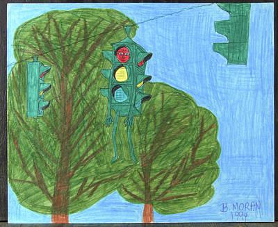 Drawing - Hangin' Around by Barb Moran