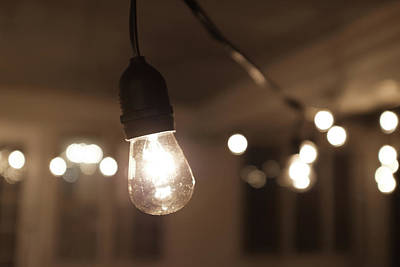 Photograph - Hanging Indoor Lights by Doug Ash