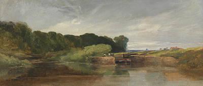 Painting - Hanham Lock On The Avon by William James Muller