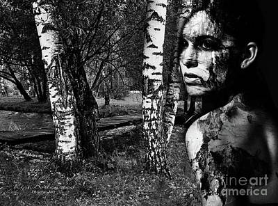 Photograph - Haning Out With Birches by Kira Bodensted