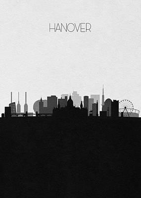 Digital Art - Hanover Cityscape Art by Inspirowl Design